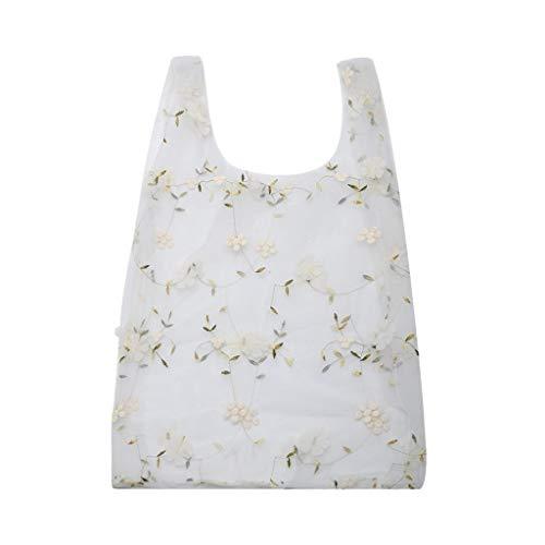 Organza Beiläufige Handtaschen, Damen Bestickte Handtaschen, Schultertaschen, Geeignet For Zu Hause, Reisen, Shopping, Etc. (Farbe : 2)
