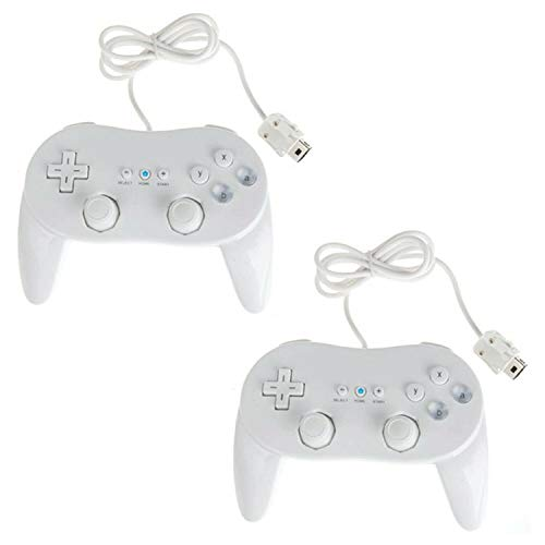 Lyyes Classic Wii Controller Wired Pro Controller for Nintendo Wii 2PACK