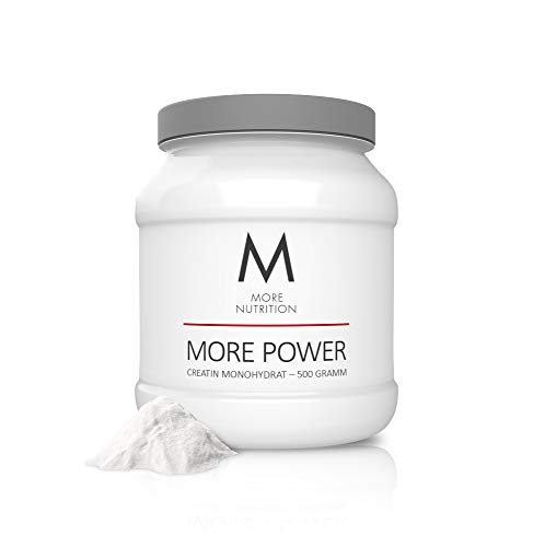MORE NUTRITION More Power (1 x 500 g) - Creatin Monohydrat für Muskelaufbau Reines Creapure Kreatin-Pulver Nahrungsergänzung