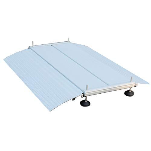 JLXJ Rampas Rampa de Entrada de Aluminio para Sillas de Ruedas, Umbral de Transición, Escaleras, Escalones, Rampas de Entrada Portátiles (Size : 102×74cm/40×29in)