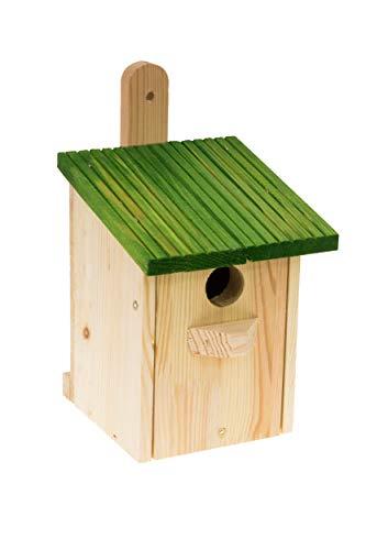 MAZUR International Nistkasten Natur für Blaumeisen & kleine Meisenarten aus Holz -wetterfest, Vogelhaus für Meisen, Nisthilfe mit 32 mm Einflugloch Vogelhaus Meisenkasten Nisthöhle …