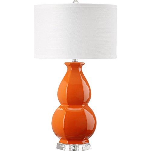 Safavieh Lighting Collection Juniper Orange Orange 27.5-inch Table Lamp