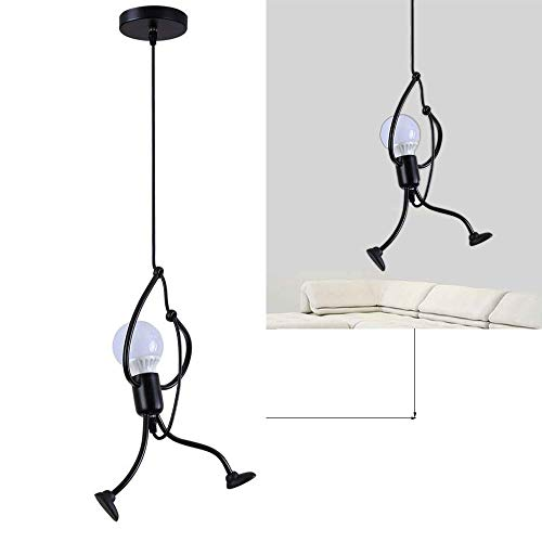 Lámpara de techo Planchar E27 Moderno Creativo animados de hierro Lámpara de sala Art Deco para Dormitorio, Escalera, Pasillo, Restaurante, Cocina, Vintage Metal Làmpara colgante