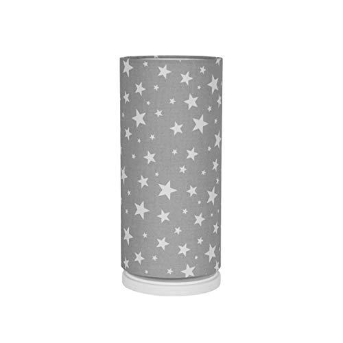 Preisvergleich Produktbild youngDECO dimmbares Nachtlicht mit Fernbedienung,  LED Nachttischlampe für Baby und Kind,  skandinavische Kinderzimmer-Deko für Mädchen & Junge,  Sterne auf grau,  hergestellt in der EU