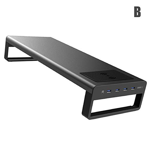 Gelentea Smart Base Aluminium Computer Laptop Basis Stand met USB 3.0 Poort voor Laptop Computer Notebook MacBook PC