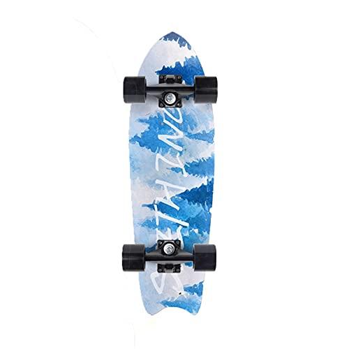 CUTEY Skateboard De 28 Pulgadas, Tabla De Surf De Surf Professional, City Street Land Cruiser Skateboard Completo, Regalos para Adultos, Niños, Surfistas,No. 2