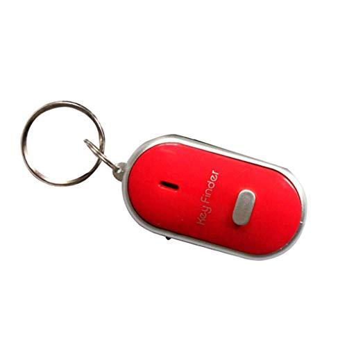 Yihaifu 5PCS Whistle Sensors Key Chain Rings Flashing sensor key LED Finding Device for Old People