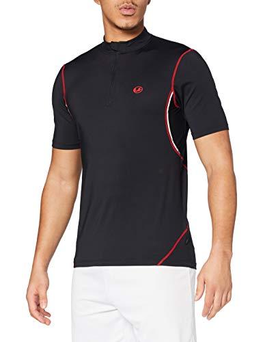 Ultrasport T-Shirt de Sport à séchage Rapide pour Homme Noir Black Red XL