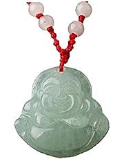 Hanger Chinese Feng Shui Jade Stone Lucky Charm Ketting Money Buddha Boeddha Kraal Ketting