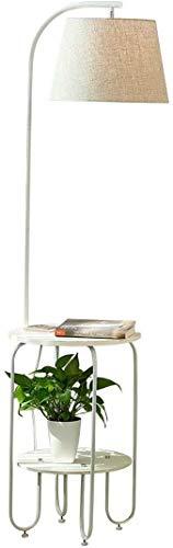 DXXWANG Stehlampe Lesung Dekorative Lichter, Massivholz mit USB-Schnittstelle Wohnzimmer Sofa Studie Vertikale Schreibtischlampe zum Lesen,EIN