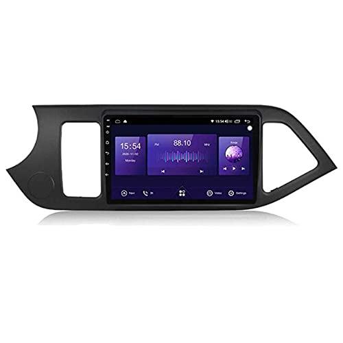 Android 10.0 coche estéreo 2 Din Radio Sat Nav para Kia Picanto 2011-2014 navegación GPS 9'' pantalla táctil MP5 reproductor multimedia receptor de video con 4G/5G WiFi Carplay