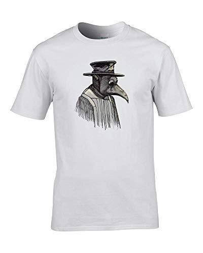 Ice-Tees Plague Doctor - Camiseta para hombre Blanco blanco L