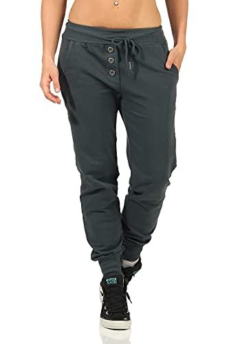 Danaest Pantalones largos de deporte para mujer (623). A-gris S