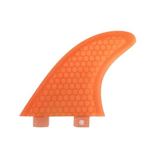 ACHICOO Aletas de surf de fibra de vidrio FCS Fin tablas de surf G3/G5/G7 Tamaño Aleta en Surf Naranja G7 Deportes al aire libre