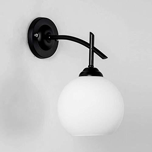 BDwantan Lámpara de pared para sala de estar, lámpara de noche, moderna, minimalista, para dormitorio, estilo balcón, pasillo y escaleras, 1 bombilla E27 (29 x 32 cm)
