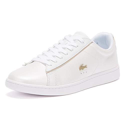 Lacoste Damen Carnaby EVO 118 6 SPW Sneaker, Weiß (White/Gold), 40 EU