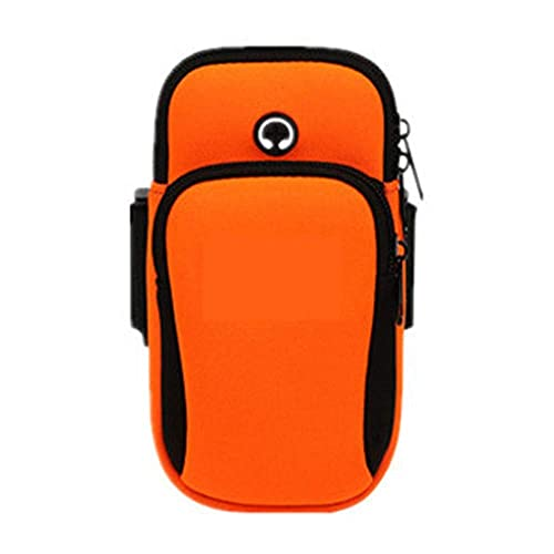 Universal Gym Workout Arm Bag Multifuncional Deportes al aire libre Pulsera a prueba de sudor Running Arm Bag Casual Arm Package Bag Gym Fitness Jogging Fitness Training (Color: Orange, Size: 17.5 *