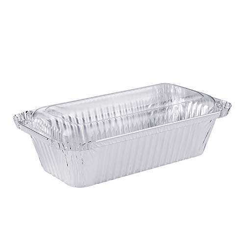Moent 20pcs Food Containers With Lids, Foil Pans With Lids Aluminum Pans with Covers Disposable Food Containers Kitchen Supplies