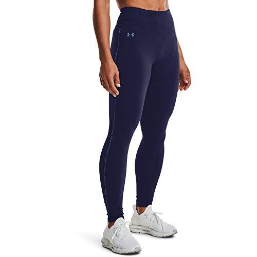 Under Armour Leggings favoritos de cintura alta para mujer - 1356404, Polainas de cintura alta favoritas, L, Azul marino medianoche (410)/azul mineral