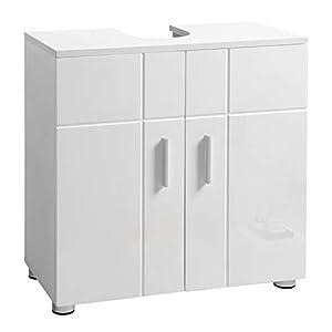 VASAGLE Mueble Bajo Lavabo, Mueble de Baño con Puertas Dobles, Repisa Regulable, Bisagras Acolchadas, Patas Regulables…