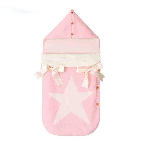 Voetenzak Enveloppen voor pasgeborenen Vijf sterren Gebreide Slaapzakken Herfst Grijze Button Up Baby Swaddle Wrap Slaapzakken Winter Deken