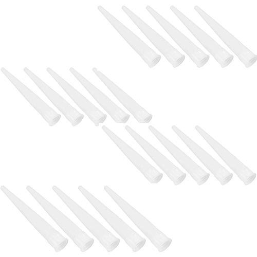 YouU Boquillas silicona Boquillas Puntas de repuesto puntas de silicona cartucho Boquillas Puntas silicona Boquillas, 20 Piezas