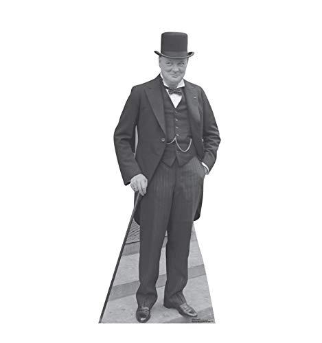 Figura de papelão com recorte em tamanho realista da Advanced Graphics - Recortes Políticos, Winston Churchill, One Size, 1