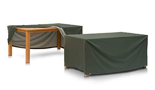 Eigbrecht 146201 Wood Cover Abdeckhaube Schutzhülle mit Abhang für Tischplatten grün 200x100x70cm