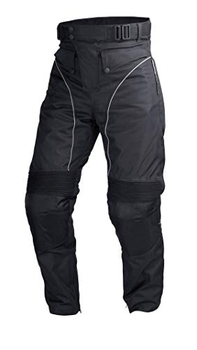 Mens Motorcycle Biker Waterproof, Windproof Riding Pants Black with Removable CE Armor PT1 (XL)