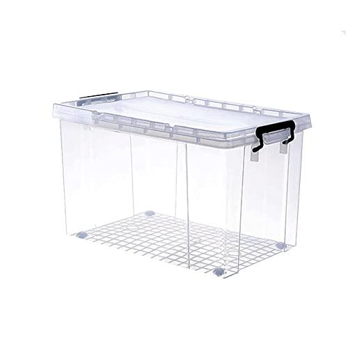 Dabeigouzzhiwl almacenaje, Caja de almacenamiento transparente de gran capacidad para el hogar, caja de limpieza de almacenes, caja de almacenamiento de polea, caja de almacenamiento de engrosamiento,