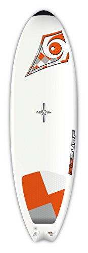 BIC Sport DURA-TEC Fish Surfboard, 5'10' x 20.5' x 2.6' x 35 Large, White/Orange
