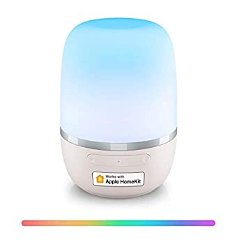 Smart WiFi Table Lamp Support Apple HomeKit Siri Amazon Alexa Google Assistant and SmartThings Tunable White and Multi-Color Bedside Lamp Voice Control APP Control Schedule
