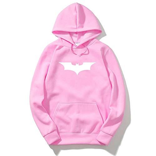 Herren Batman Print Hooded Custom Herren Sweatshirt Hipster Sportanzug Hip Hop Herren Herren Sweatshirt, Pink 1, XL