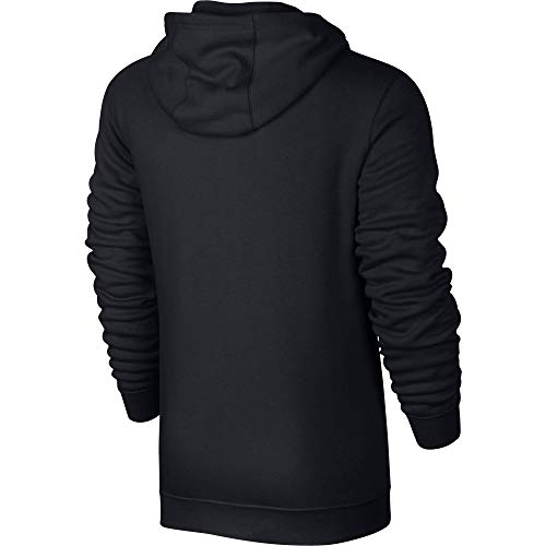 Men's Nike Sportswear Club Full Zip-Up Hoodie, Fleece Hoodie for Men with Paneled Hood, Black/Black/White, 2XL