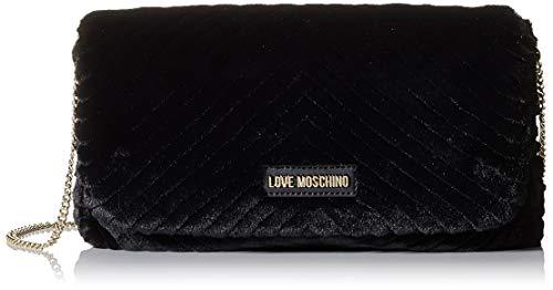 Love Moschino Borsa Eco Fur, Pochette da Giorno Donna, Rosa (Cipria),...