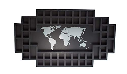 Reno Direct 52 Slot Shot Glass Display (Black, World Map)