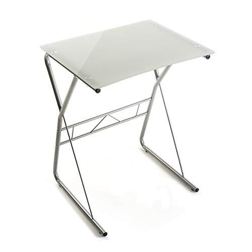 Versa 10330080 Mesa de Ordenador o Escritorio Leipzig, Cristal, Blanco, 75 x 47,5 x 60 cm 🔥