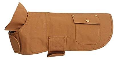 Morezi Dog Coat Water Resistant Warm Puppy Jacket Padded Cotton Winter Dog Clothing for Doggie Small Medium Dogs - Khaki - XL