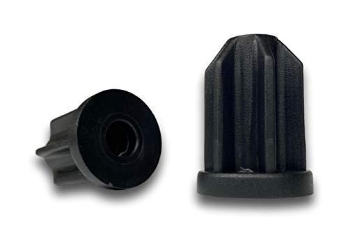 """Caster Socket Sleeve Round Inserts, 7/16"""" Inside Stem, 1-3/16"""" Outside Diameter - Set of 4"""