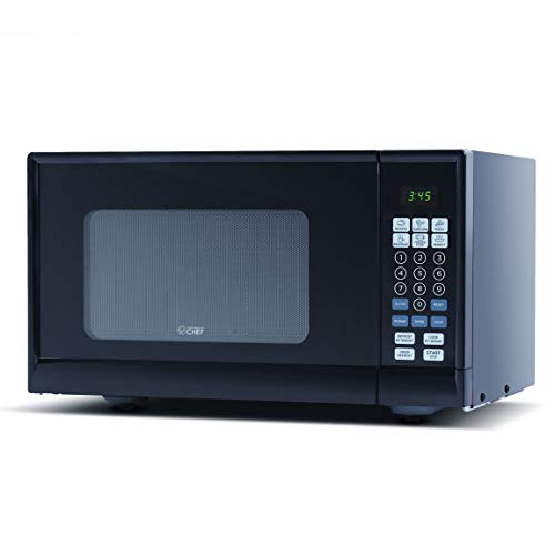 Commercial Chef CHM990B Countertop Microwave Oven, 19.3 x 14.7 x 11.2 Inches, Black