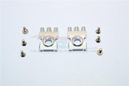 XMods Generation 1 Upgrade Pièces Aluminium Front Gear Box with Screws - 1Pr Set Silver