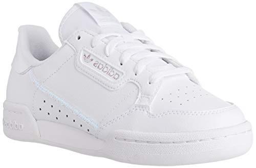 adidas Buty gimnastyczne dla dzieci Continental 80 J uniseks, Ftwr White Ftwr biały rdzeń czarny - 36 EU
