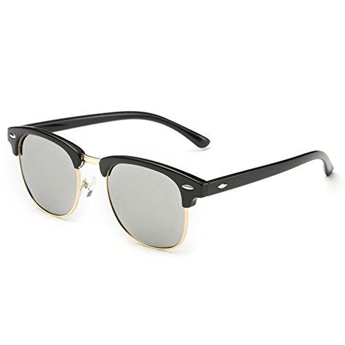 QHGstore Protección UV Hombres Mujeres Deportes Gafas de sol polarizadas Gafas de sol Negro / Plata