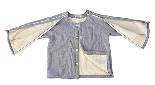 JJZXPJ Paralyse-Kleidung, Patientenpflege, Kleidung, leicht zu tragen, für bettlägerige Inkontinenz-Patienten, ältere Menschen (Farbe: Oberteile, Größe: XXL)