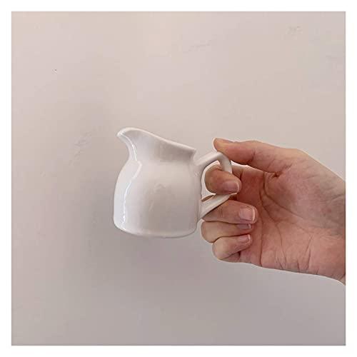 Jarra de crema de cerámica Taza de leche pequeña Juego de jarras de leche Jarra de crema multifuncional con asa Jarra de café para servir Leche Jarra de salsa para la cocina
