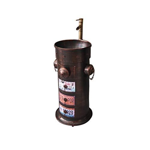 ZYACHI Waschbecken mit Wasserhahn, Feuerhydrant Retro Industriestil Metall Eiserne Kunst Standwaschbecken (Color : Red copper)