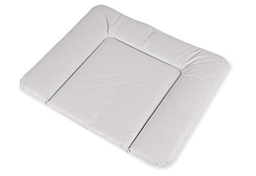 Pinolino Wickelauflage Komfort, Folie gesteppt, grau, 85 x 75 cm, für Babys und Kleinkinder, abwischbar, wasserdicht und schadstoffgeprüft, 71200-8