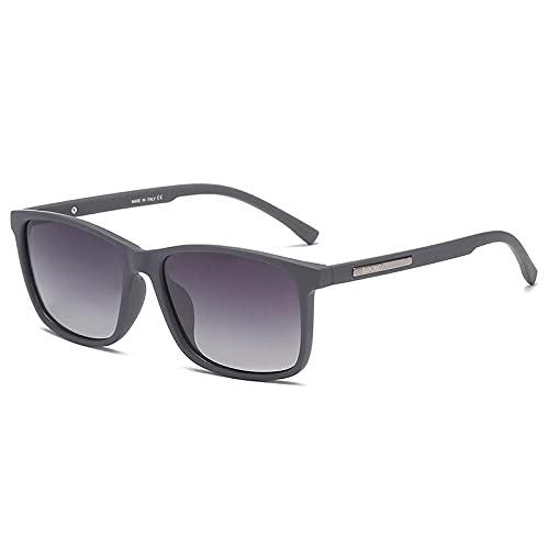 Gosunfly Gafas de sol cuadradas para hombre, gafas de moda, montura gris, gris degradado