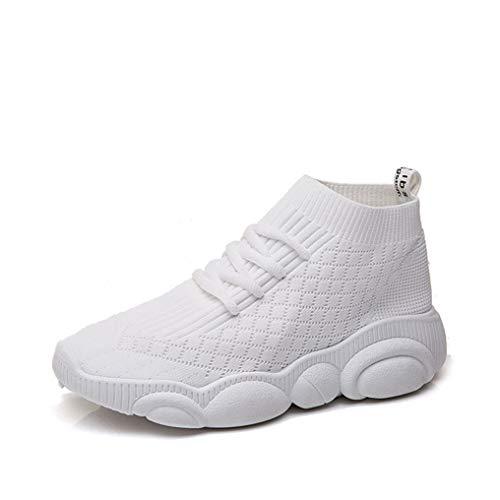 Lente Dames Mesh Sneakers Lace Up Stretchstof Enkellaarzen Plateau Wiggen Platte Gevulkaniseerde Casual Schoenen Ademende Modetrainers