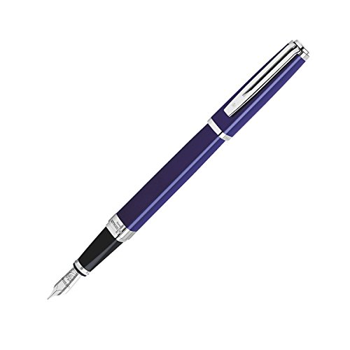 Waterman Exception Slim Blue Lacquer ST Medium Point Fountain Pen - 35855 by Waterman